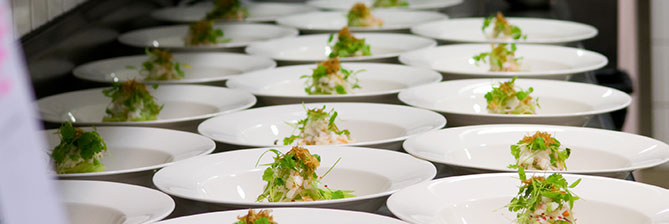 Corporate catering contracts