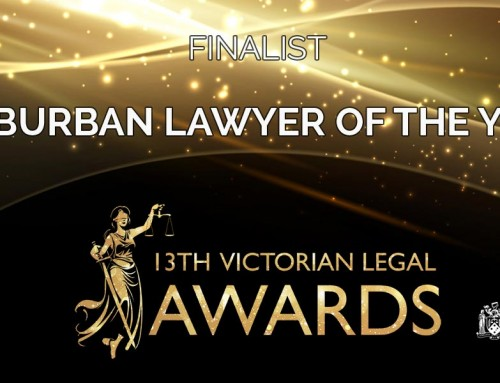 Finalist in Victorian Legal Awards