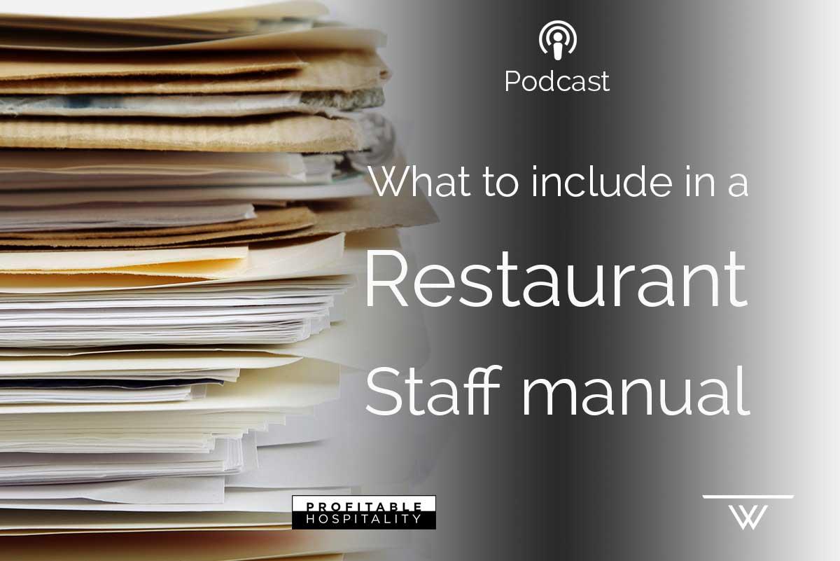 How to write a restaurant employee manual   chron. Com.