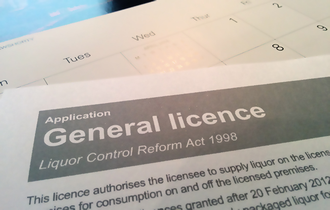 Application for general on premise liquor licence