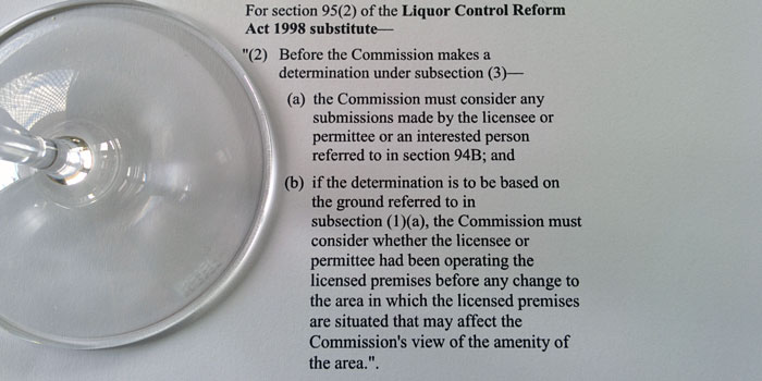Agent of change principle to protect liquor licensees from new neighbours.
